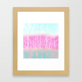 Winter Branches in Ice Cream Colors Framed Art Print
