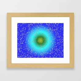 Blur through the net Framed Art Print