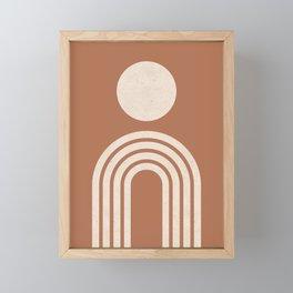 Mid century modern terracotta Framed Mini Art Print