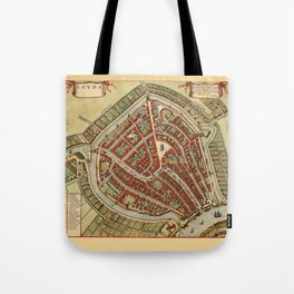 Map Of Gouda 1650 Tote Bag