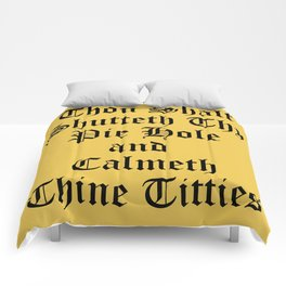 Calmeth Thine Titties Poster Comforters