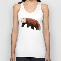 red panda Tank Tops featuring Red Panda by Ben Geiger