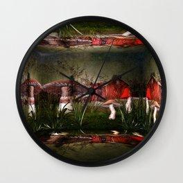 Magical Mushroom Farm Wall Clock