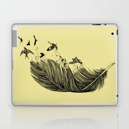 Feather Birds BW Laptop & iPad Skin