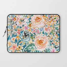 SMELLS LIKE GLORIOUS IMPERFECTION Floral Laptop Sleeve