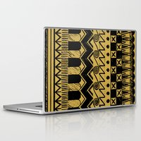 egypt Laptop & iPad Skins featuring Aztec Egypt by DeMoose_Art