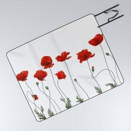 Poppy Stems Picnic Blanket