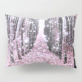 Magical Forest Pink Gray Elegance Pillow Sham