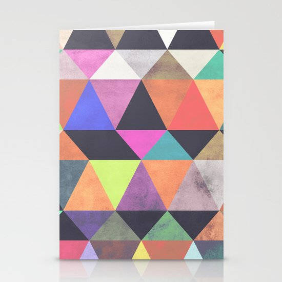 colour + pattern 12 Stationery Cards