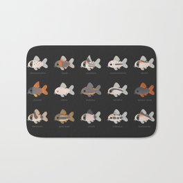 Corydoras! - black Bath Mat
