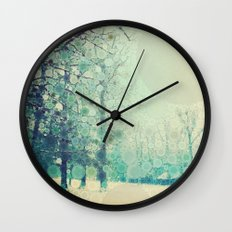 Winter Frost Wall Clock