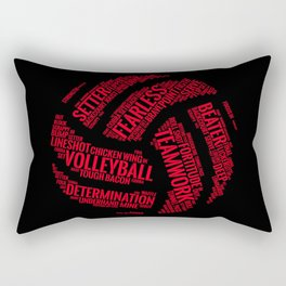 Red Volleyball Wordcloud - Gift Rectangular Pillow