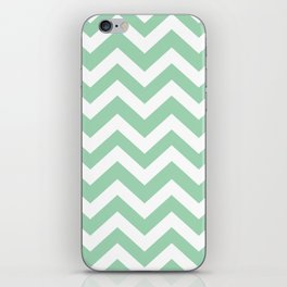 Turquoise green - green color - Zigzag Chevron Pattern iPhone Skin