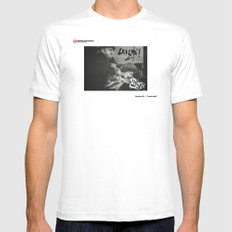 #04 - Lanzá Idea$ MEDIUM White Mens Fitted Tee