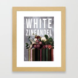 White Zinfandel in Grape Framed Art Print