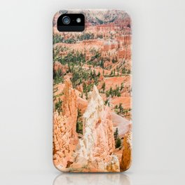 Bryce Canyon | Nature Landscape Photography of Rocky Orange Hoodoo Formations in Utah Desert iPhone Case
