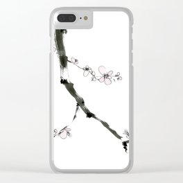 Plum Blossom Clear iPhone Case