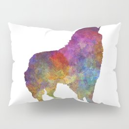 Romanian Carpathian Shepherd Dog in watercolor Pillow Sham