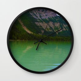 Kinney Lake in Mount Robson Provincial Park, British Columbia Wall Clock