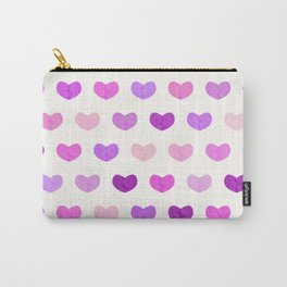Colorful Cute Hearts IV Carry-All Pouch