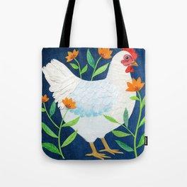 White Chicken Tote Bag