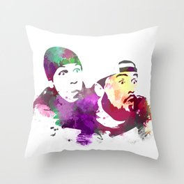 Jay and Silent Bob (Clerks) Throw Pillow
