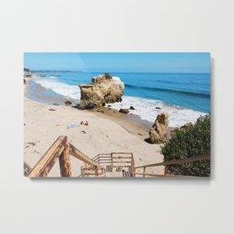 El Matador State Beach Stairs Metal Print