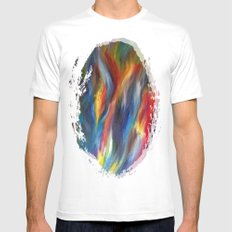 Abstract Painting MEDIUM White Mens Fitted Tee