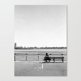 Thoughts by the East River Canvas Print