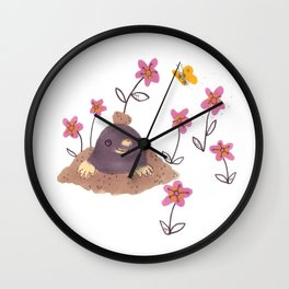 Hello Mole! Wall Clock