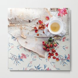Tea with Roses Metal Print