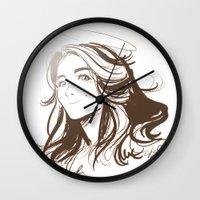 allison argent Wall Clocks featuring Allison Argent by littlecofiegirl