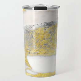 Silver and Gold Marble Design Travel Mug