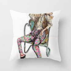Floral Fashion Throw Pillow