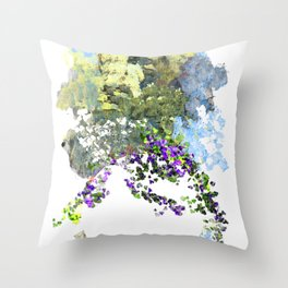 Floating Foral Bouquet Throw Pillow
