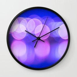Bokeh Reflections Wall Clock