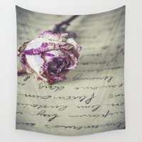letter Wall Tapestries featuring Love letter by Maria Heyens