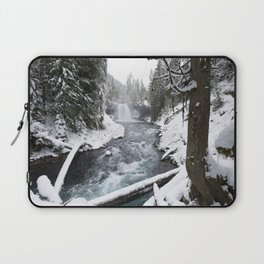 The Wild McKenzie River Waterfall - Nature Photography Laptop Sleeve