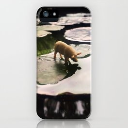 The Pig + The Lily Pad iPhone Case