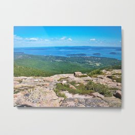 View of Bar Harbor, Maine from Cadillac Mountain (4) Metal Print