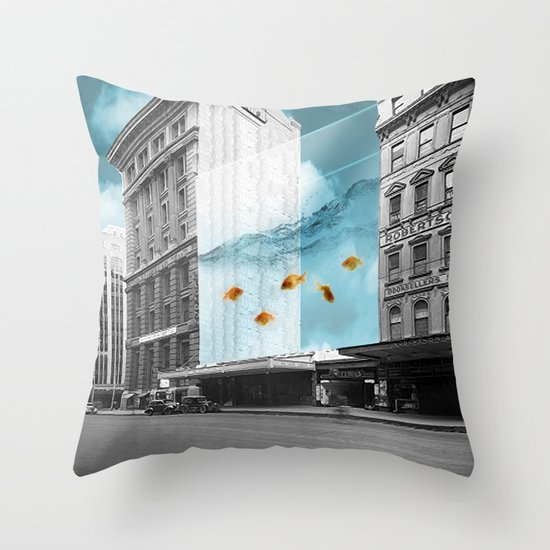 between the walls Throw Pillow