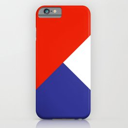 Triangles Retro Pop Art Abstract - Red White Blue Series iPhone Case