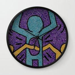 Keith Haring High Five Wall Clock