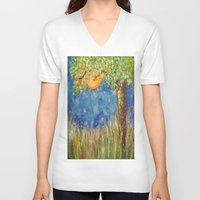 fireflies V-neck T-shirts featuring Fireflies by Debydear