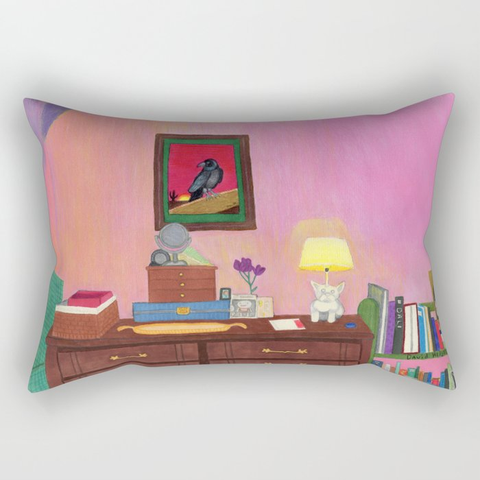 Bedroom in South San Gabriel Rectangular Pillow