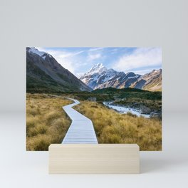 Mt.Cook New Zealand - A hikers dream Mini Art Print