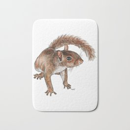 Twitchy-nosed Squirrel Bath Mat