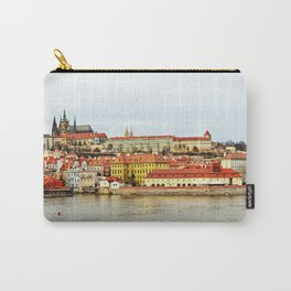 Vltava river and Prague Castle panorama Carry-All Pouch