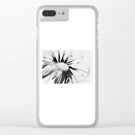 Dandelion BW Clear iPhone Case