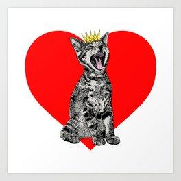 Kitty Heart Art Print